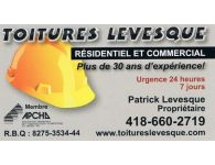 TOITURES LEVESQUE DENEIGEMENT DE TOITURES REPARATION